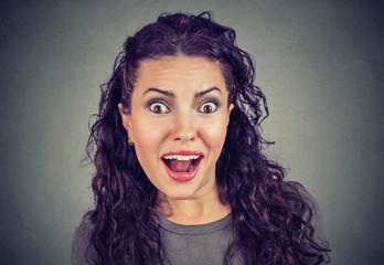 Shocked surprised woman listening to rumors