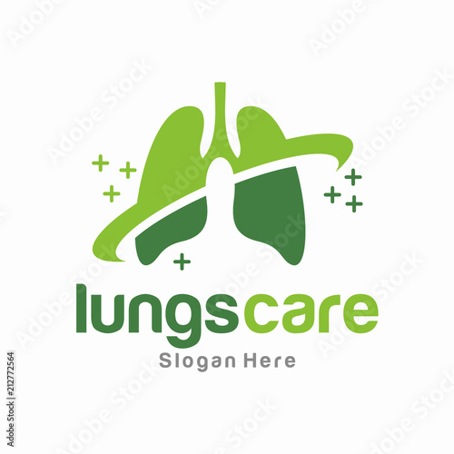 lung care logo vector template fotolia com の ストック画像と
