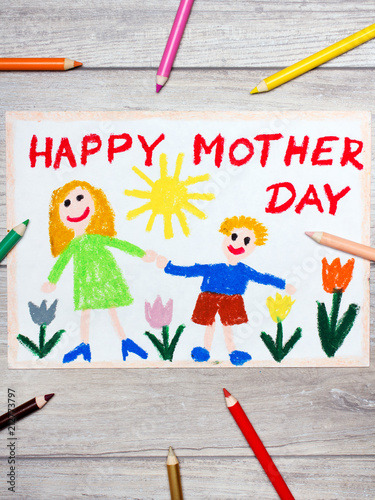 Colorful drawing - Mother's Day card