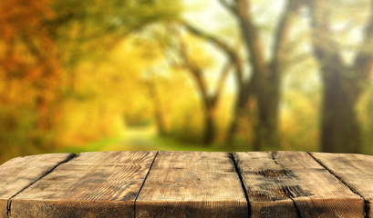 Table background and autumn time