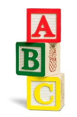 ABC Blocks Isolated