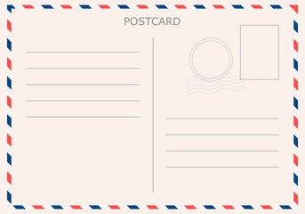 Postcard with white paper texture. Vector illustration EPS10