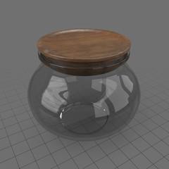 Round clear jar