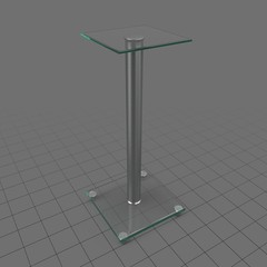 Thin display pedestal