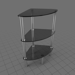 Tiered corner table