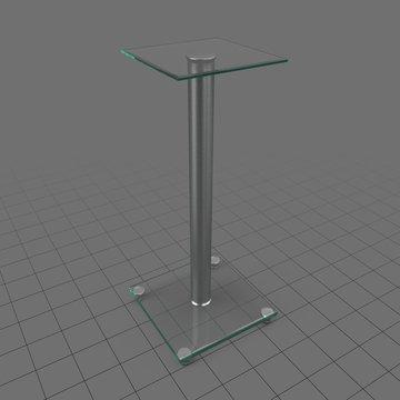 Thin display pedestal