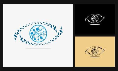 eye icon network connect logo