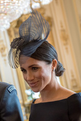 Britain's Meghan, Duchess of Sussex attends a reception to mark the centenary of the RAF at Buckingham Palace, in London