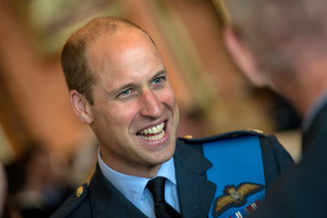 Britain's Prince William attends a reception to mark the centenary of the RAF at Buckingham Palace, in London