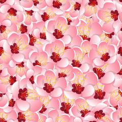 Momo Peach Flower Blossom Seamless Background