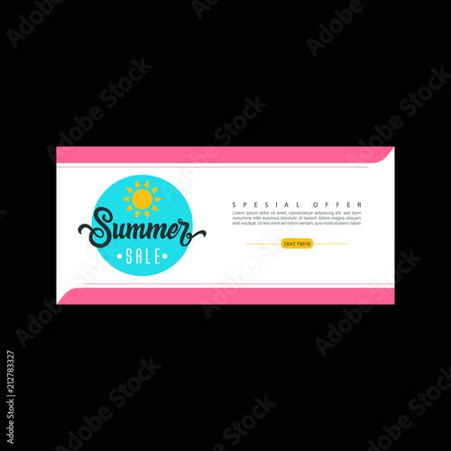 Facebook Banner Design Template | Summer Sale Sale Banner Template Colorful Brochure Design