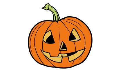 Halloween Pumpkin cartoon jack o lantern vector