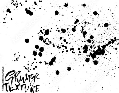 Handdrawn Grunge Texture Abstract Ink Drops Background