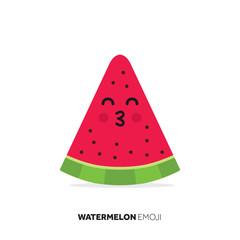 Watermelon fruit cute emoji character icon