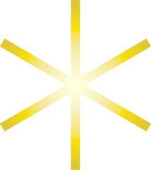 Hagal - Rune - Gold