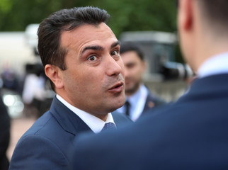Macedonia's Prime Minister Zoran Zaev, speaks at the Western Balkans Summit in London