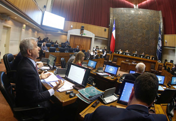 Chile's Finance Minister Felipe Larrain speaks during the meeting of the Finance Commission at the Congress in Valparaiso