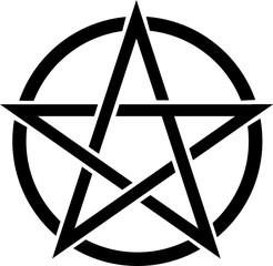 Pentagramm - vector icon