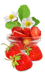 Fototapete - image of a strawberry closeup