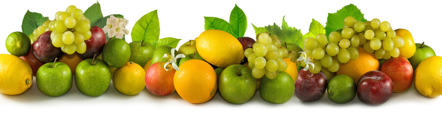 Fototapete - Isolated image of many fruits