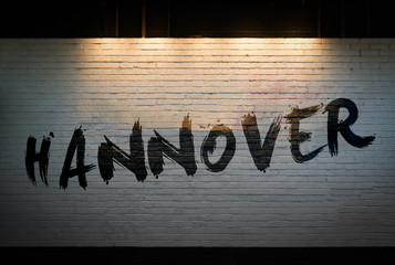 Hannover written on a wall concept