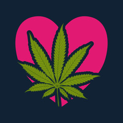 Love cannabis-marijuana