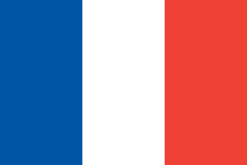 France. French flag. Official colors. Vector