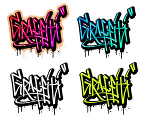 Graffiti text in graffiti style vector illustration