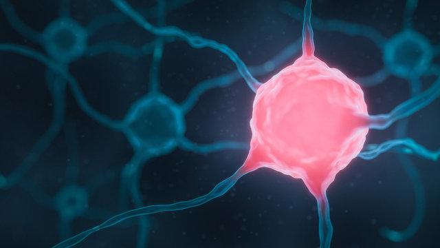gereizte Nervenzelle