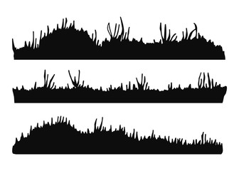 grass silhouette. isolated vector illustration. on a white background