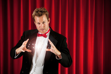Magician: Magician Conjures for Audience