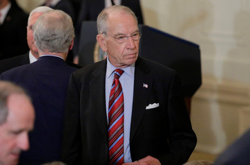 Senate Judiciary Committee Chairman Grassley arrives to watch President Trump announce Judge Kavanaugh as his Supreme Court nominee at White House in Washington