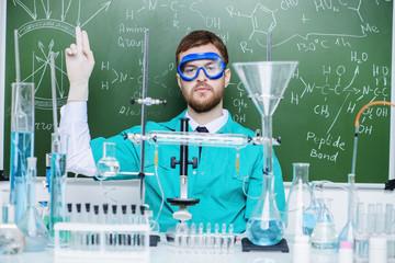 man scientist in lab