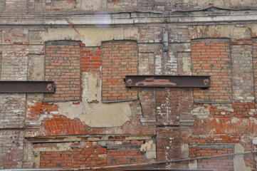 emergency old red brick building