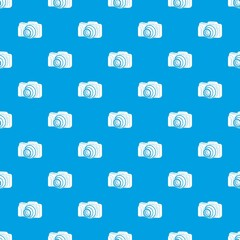 Photo camera pattern vector seamless blue repeat for any use