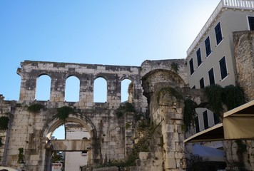 Inside of ancient Diocletian's Palace in Split, Croatia