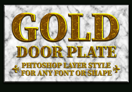 Gold Text Style with Marble Background