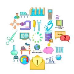 Economy icons set. Cartoon set of 25 economy vector icons for web isolated on white background