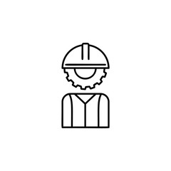 human head mechanism icon. Element of automation icon for mobile concept and web apps. Thin line human head mechanism icon can be used for web and mobile. Premium icon
