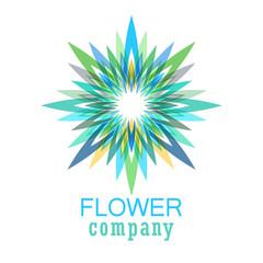 Colorful flower logo, symbol, vector illustration.