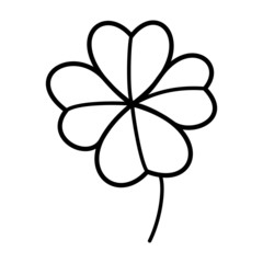 Clover cartoon illustration isolated on white background for children color book