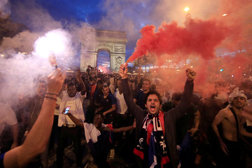 Soccer Football - World Cup - Semi-Final - France vs Belgium - Fans