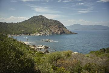 Natural bay of southern Sardinia