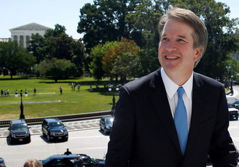U.S. Supreme Court nominee Kavanaugh arrives for meetings on Capitol Hill in Washington