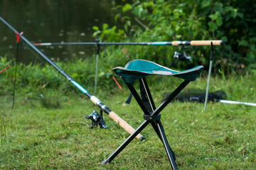 Printed roller blinds Fishing fishing chair and rode with the rest of fishing set