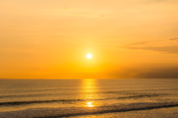 Sunset from Gadon beach near Tanah Lot Temple in Bali, Indonesia