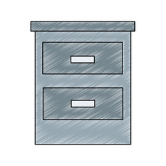 Office cabinet isolated vector illustration graphic design