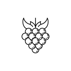 grapes dusk style icon. Element of fruits and vegetables icon for mobile concept and web apps. Dusk style grapes icon can be used for web and mobile