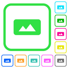 Panorama picture vivid colored flat icons
