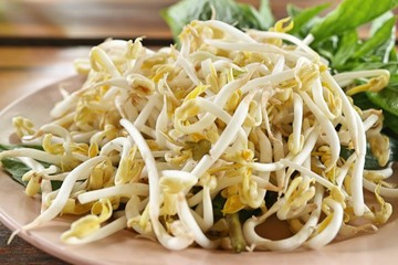 heap organic bean sprouts